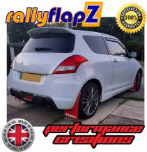 SWIFT SPORT 3RD GEN ZC32S  2012-17 RED MUDFLAPS (Logo White)